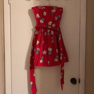 Red floral sleeveless Abercrombie&Fitch dress.